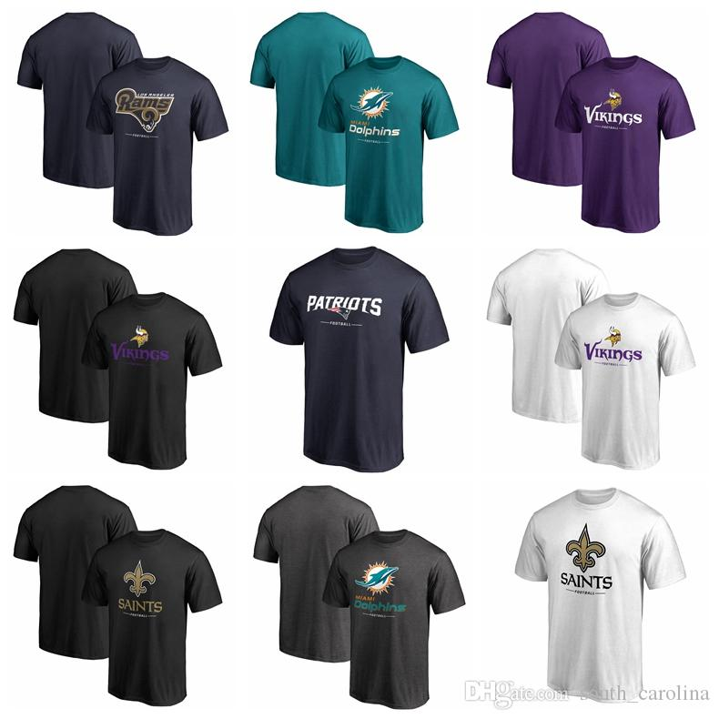 Men Vikings Minnesota T Shirt Los Angeles Rams Patriots Miami ... f86f19eb6