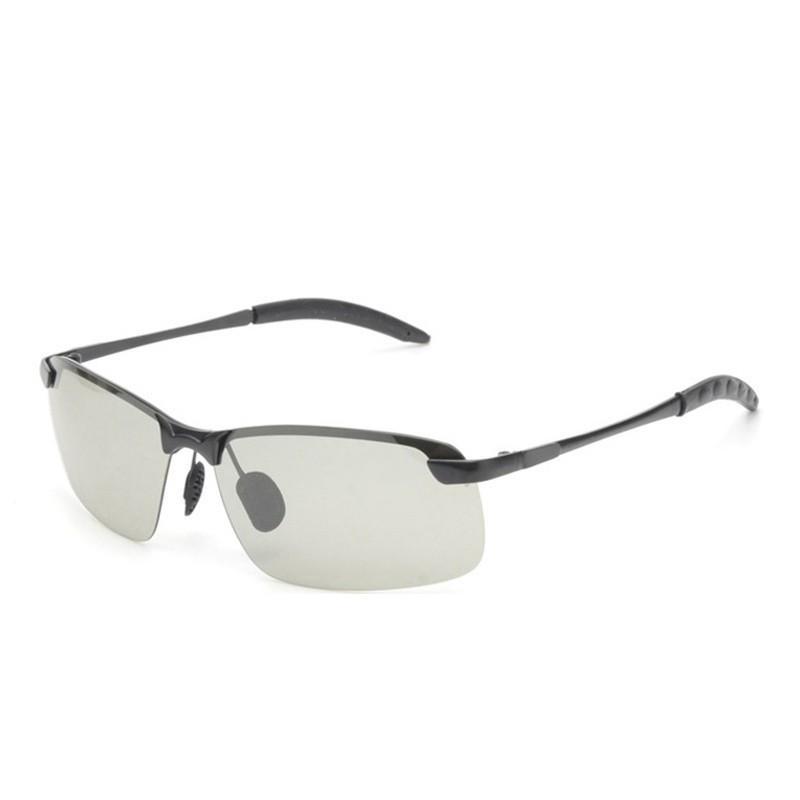 9c54118e45 Compre Gafas De Sol Fotocromáticas De Yok Hombres Polarizados Camaleón Sin  Montura Gafas De Conducción Día Masculino Noche Conductor Gafas Rectángulo  Oculos ...