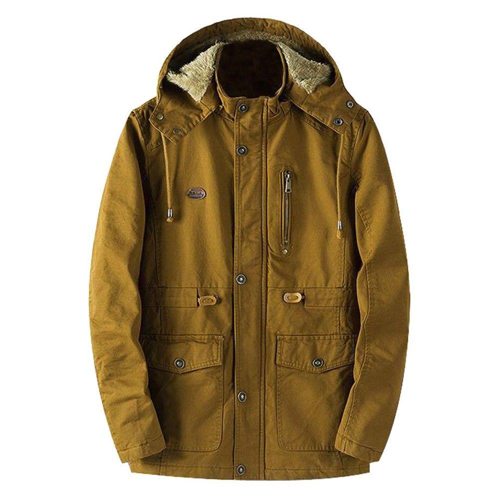 0d0575468bf Men Winter Warm Jacket Overcoat Outwear Slim Long Trench Zipper Buttons Coat  Fashion Jackets Big Size Hot Sale Quality Parkas Cheap Parkas Men Winter  Warm ...