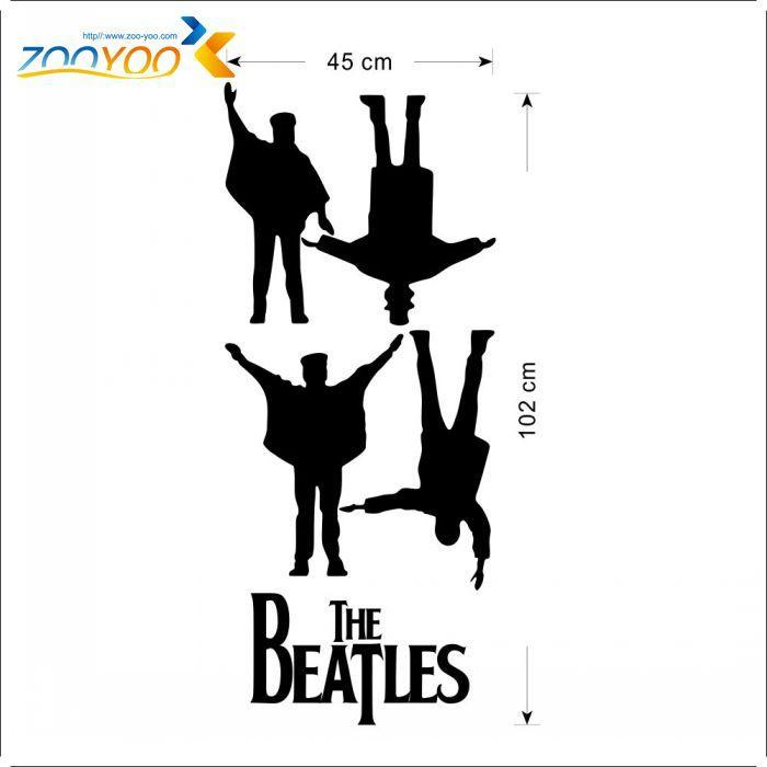 البيتلز جدار الشارات 2016 تصاميم جديدة للإزالة موسيقى البيتلز الفينيل ملصقات الحائط ديكور المنزل ZooYoo8192 جدار الفن الشارات