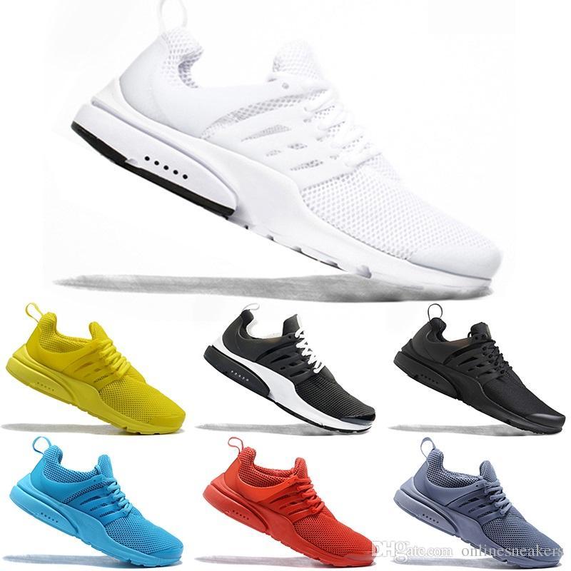 best service cf13f 00950 Scarpini Da Calcio Nike Air Max Presto Airmax PRESTO 5 BR QS Uomo Donna  Running Shoes Respira Triple Nero Bianco Giallo Rosso Economici Mens  Athletic Sport ...