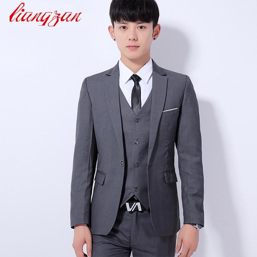 02e75d800322 2019 Men Suit Blazer New Brand Korean Fashion Formal Blazer Suit ...
