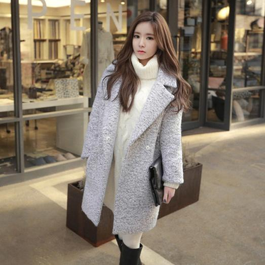 9f8341baf9b6 2019 Winter Coat 2017 Women Korean Style Vintage Elegant Turn Down ...