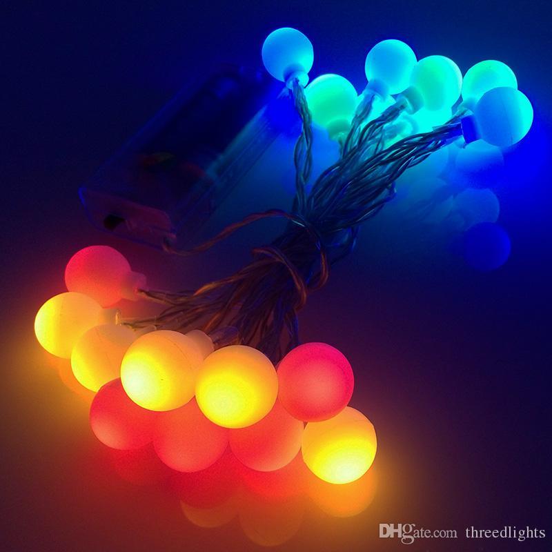 7M Solar Energy LED Globe String Lights Warm White/White Ball Fairy ...