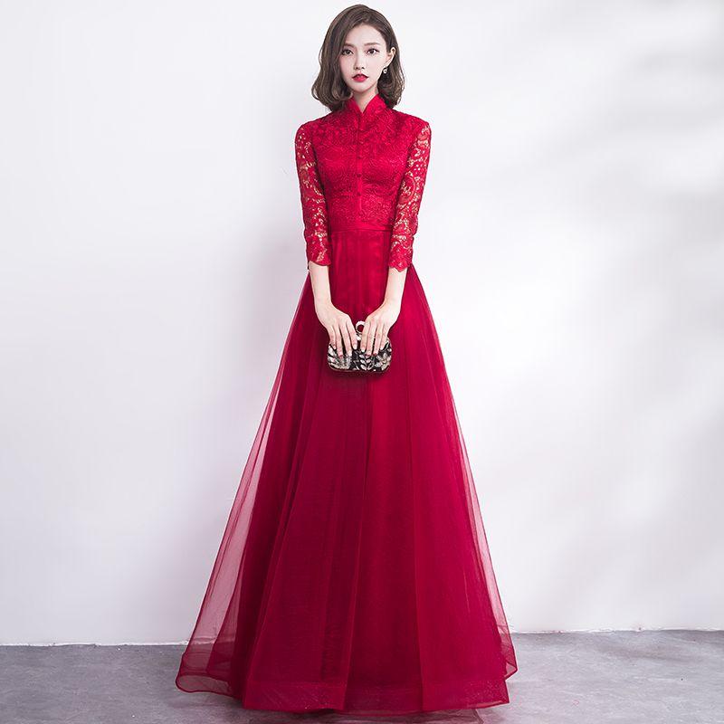 14c1aaeb3 Compre Chino Tradicional Vestido De Novia Cheongsam Long Qipao Novia  Traditions Classic Women Dress Vestidos Orientales Vestido Novia A  139.83  Del ...