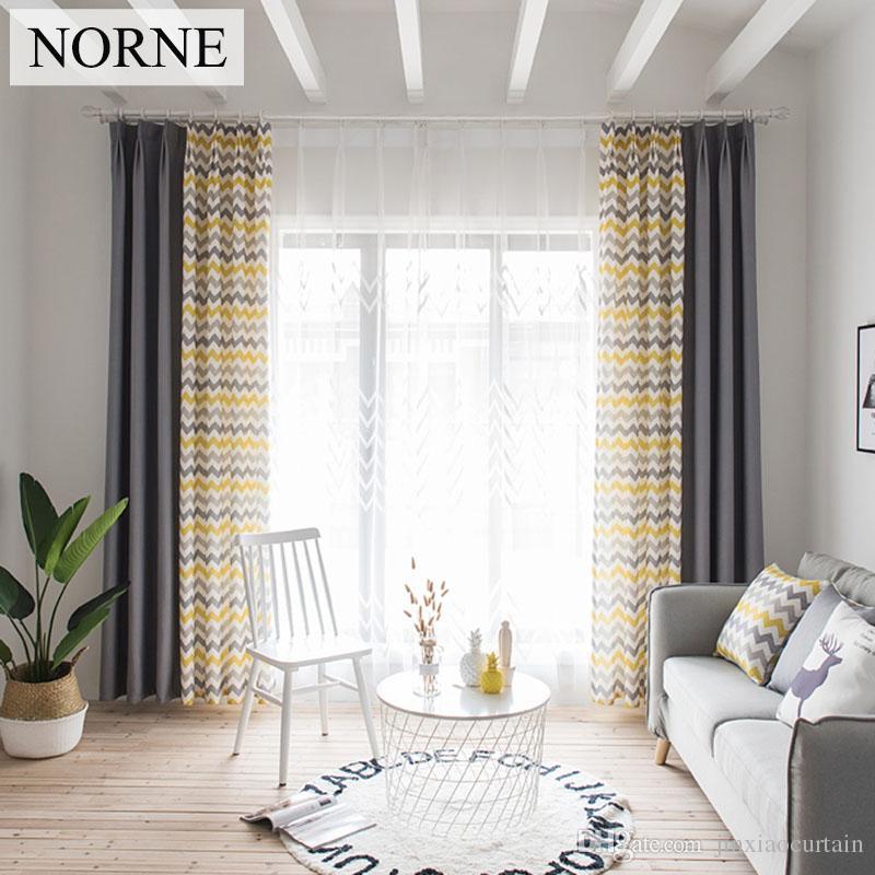 NORNE Faux Leinen Mode Zimmer Verdunkelung Vorhänge für Wohnzimmer  Schlafzimmer Moderne Fenster Sticken Vorhang küche Jalousien Vorhänge