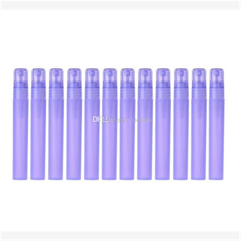 Botella plástica del aerosol de 3ml 5ml 10ml, envase cosmético vacío del perfume con la boca del atomizador de la niebla, frascos de la muestra del perfume Pluma plástica del perfume 0127