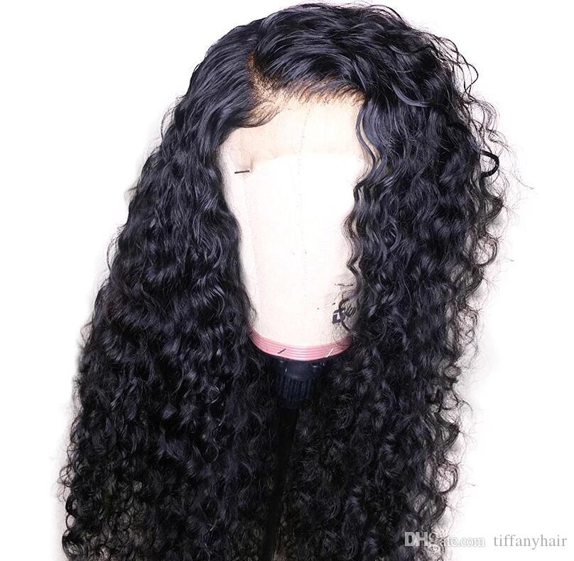 Temperate Silk Base Lace Front Wigs India Remy Hair Pre-plucked With Baby Hair Natural Hairline Curly Wig Bleaches Knots 8-24 Inch Silk Base Lace Wigs