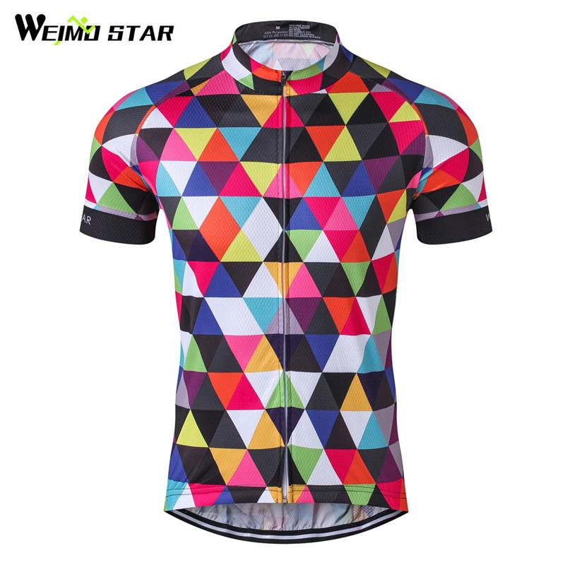 983d10a6c Weimostar Colorful Bicycle Clothing Team Racing Sport Cycling Jersey Quick  Dry Short Sleeve Mtb Bike Jersey Cycling Clothing T Shirts Uk Biker Shirts  From ...