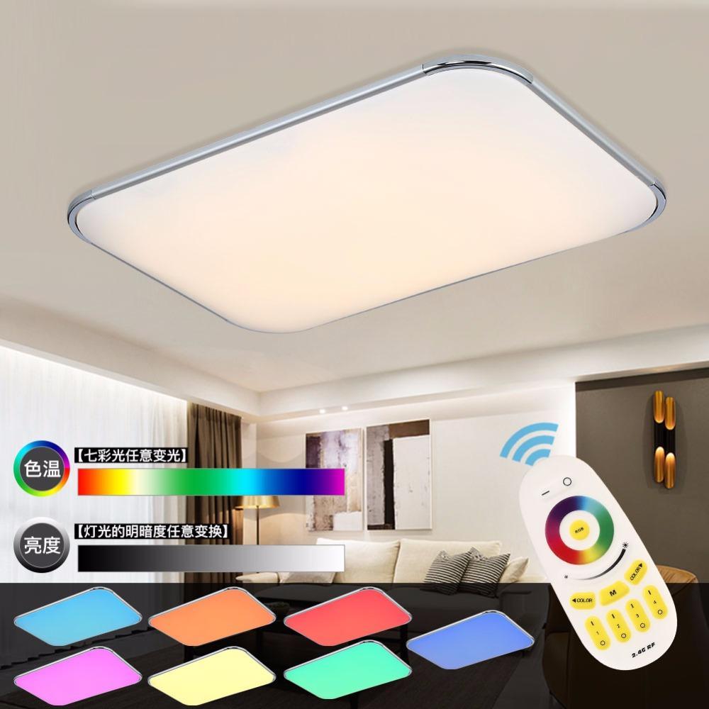 Moderne Led Deckenleuchten Wohnzimmer 2,4G Remote Group Controlled Dimmbare  Farbwechsel Hause Deckenleuchte Leuchte Licht