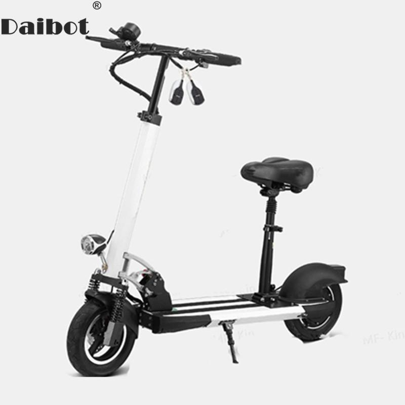 Scooter With Seat >> Daibot Electric Kick Scooter With Seat For Adults 400w Two Wheel