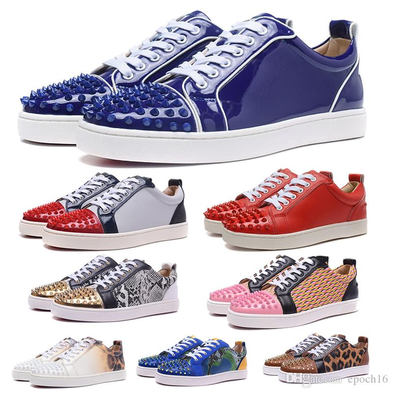 9d9bdfc146a3 Fashion Designer Brand Spikes Flats Shoes Red Bottom Shoes For Men And Women  Luxury Genuine Leather Sneakers Running Shoes Outdoor Shoes Luxury Shoes  Online ...