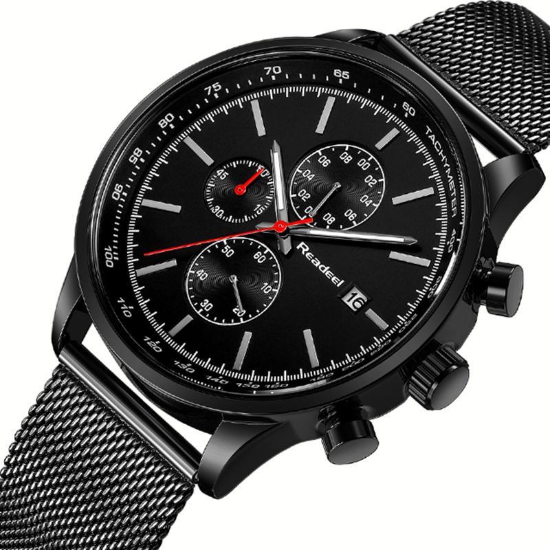 64272f0674f2 Compre Relojes Masculinos Readeel Cronógrafo Para Hombres Relojes  Deportivos Reloj De Pulsera De Cuarzo Militar De Acero De La Mejor Marca  Hombres Reloj ...