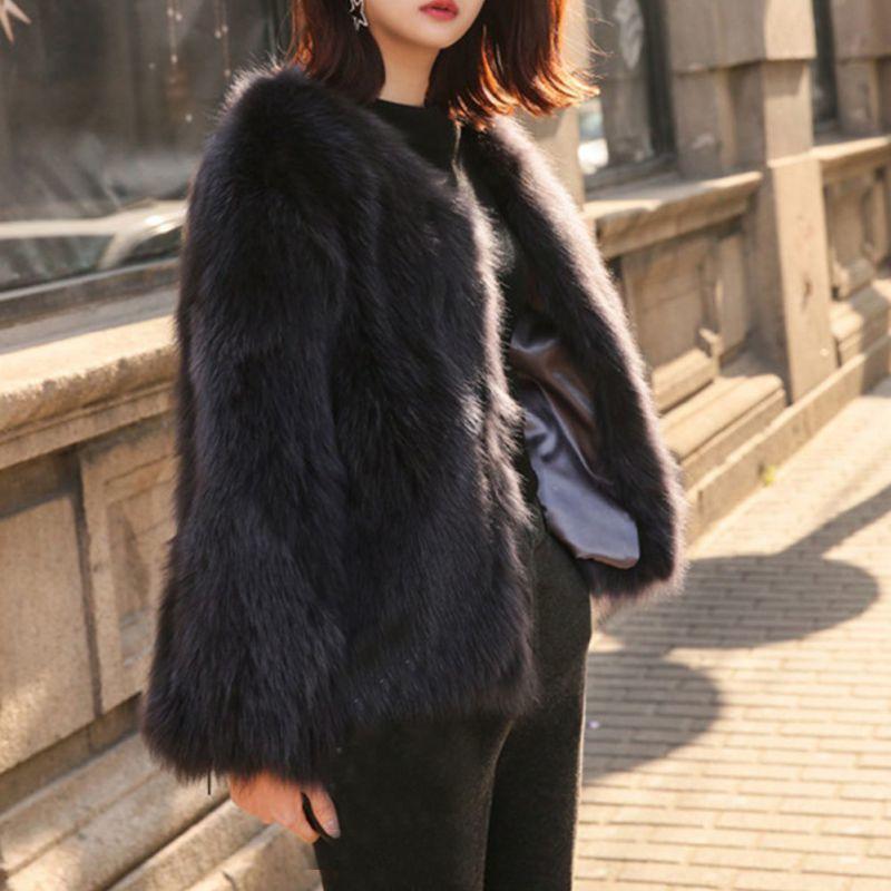 d3a6b153e9 2019 Black White Green Pink Fur Coat Women Flurry Faux Fur Jackets Female  Long Sleeve Shaggy Cardigan Autumn Winter Coat Plus Size C18110901 From  Linmei0005 ...