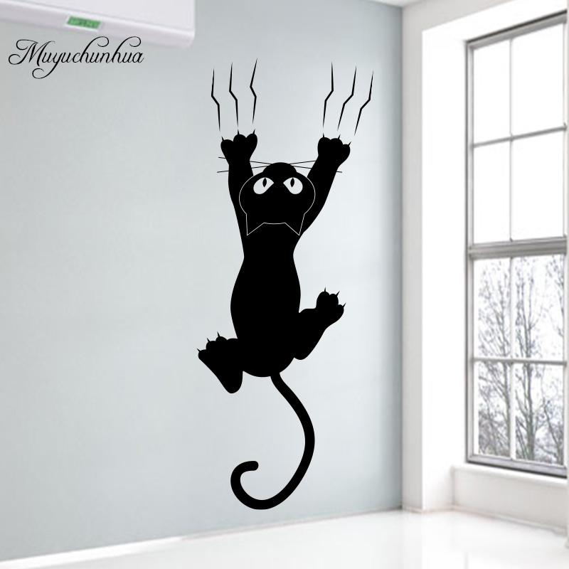 muyuchunhua kitty cat wall sticker creative small size switch