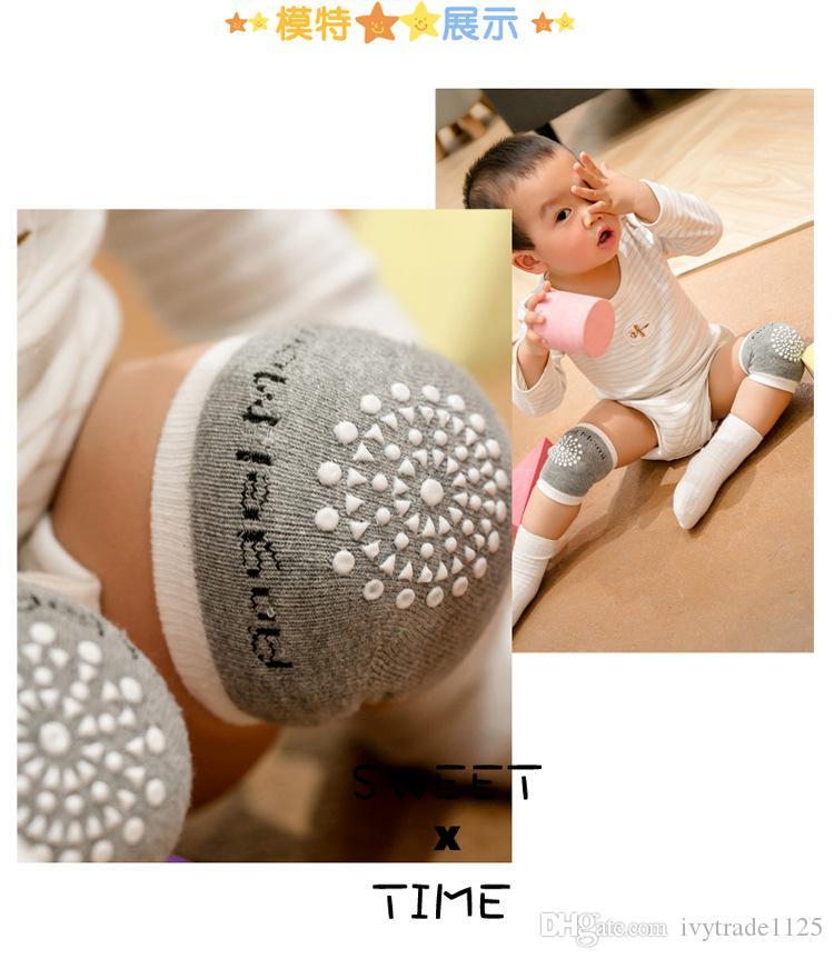 아기 크롤 링 무릎 패드 만화 안전 어린이 무릎 코튼 아기 무릎 보호대 어린이 짧은 Kneepad 최고 품질의 아기 다리 따뜻하게