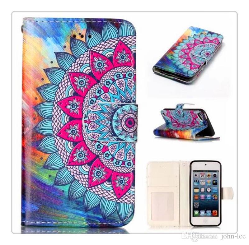 Para iPhone 8 Galaxy ON5 Monedero Diamond Case iPhone 6 Funda LG K7 Stylo Bling Bling Funda Crystal PU Leather Slot Tarjeta Opp