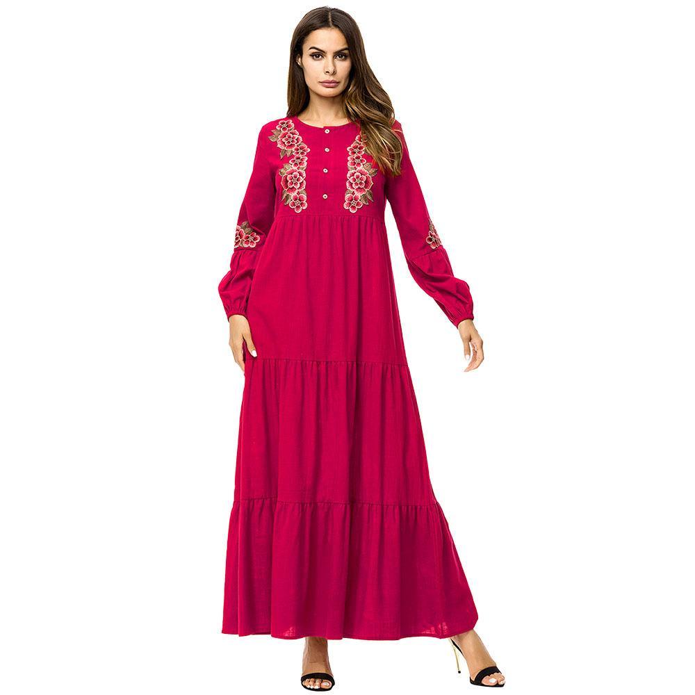2018 187235 Hot Sell Muslim Women Gowns 2018 Autumn Dresses Muslims ...