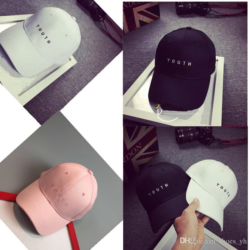 New Embroidery Alphabet Caps Streetwear Kanye West Dad Cap Letter Baseball  Cap Adjustable Hats Flat Brim Hats Baby Cap From Shoes yh fdbdcf8e74d