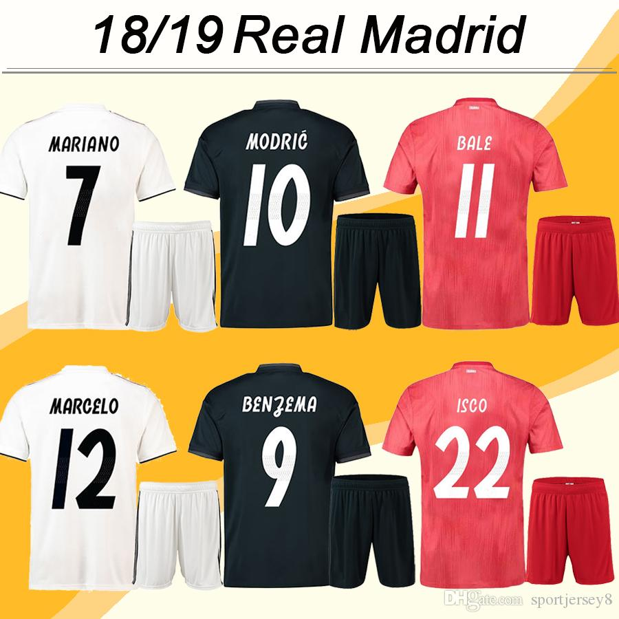 887a9fb4b 2019 2018 19 Real Madrid Adult Kit Football Jerseys MODRIC SERGIIO RAMOS  KROOS Men Suit Home Away 3rd Soccer Shirts BENZEMA MARCELO ISCO Uniforms  From ...