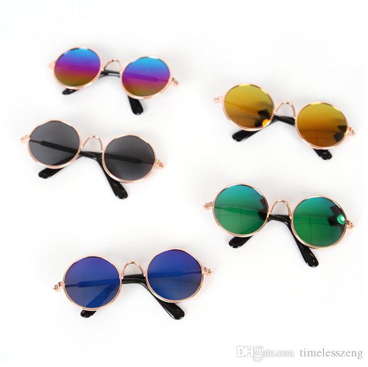 9 Cor criativa cat eye-wear pet óculos de sol pouco cão óculos de estimação fotos props animais de estimação acessórios de moda pet decoração suprimentos navio livre