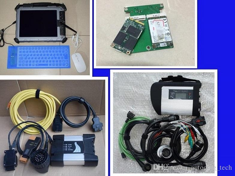2019 new arrival diagnostic-tool for mb star c4 for b-mw icom next with  tablet ix104 with two ssd 1 year warranty