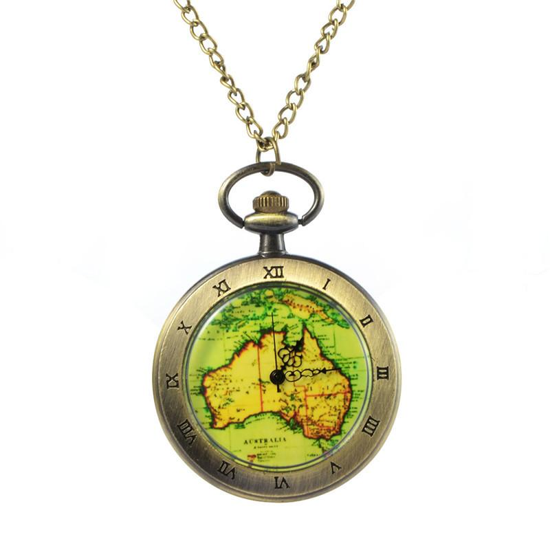 New vintage old world australia map travelers pocket watch unique new vintage old world australia map travelers pocket watch unique fashion necklace pendant pocket watch gift on chain watch pocket custom pocket watch from gumiabroncs Gallery