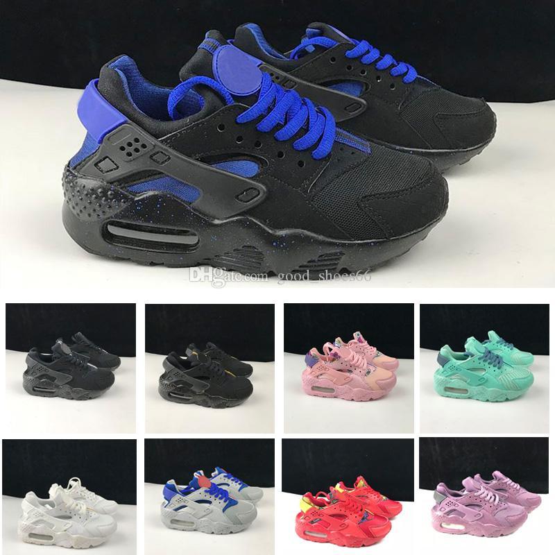 4403cbe48371 2018 New Air Huarache Running Shoes Trainers Big Kids Boys Girls Men And  Women Black White Outdoors Shoes Huaraches Sneakers Kids Sports Shoe Kids  Running ...