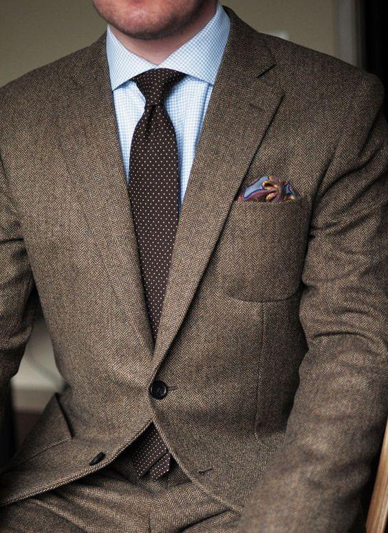 official photos 039f8 d2edd 2018 Dunkelbraun Tweed Blazer Männer Wolle Fischgrät British Style nach Maß  Herren Anzug Slim Fit Blazer Hochzeit Anzüge für Männer