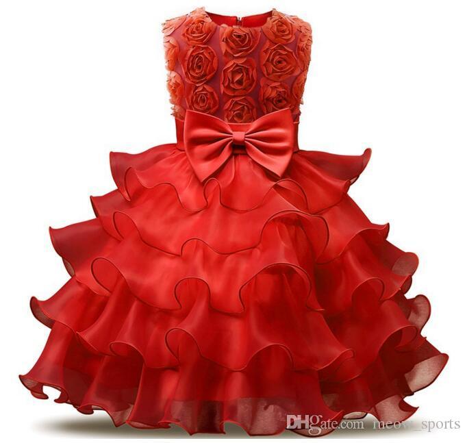 Abito da ragazza di fiori matrimoni Bambina 0-10 anni Abiti da compleanno Abiti da prima comunione bambini Abiti da ballo bambina
