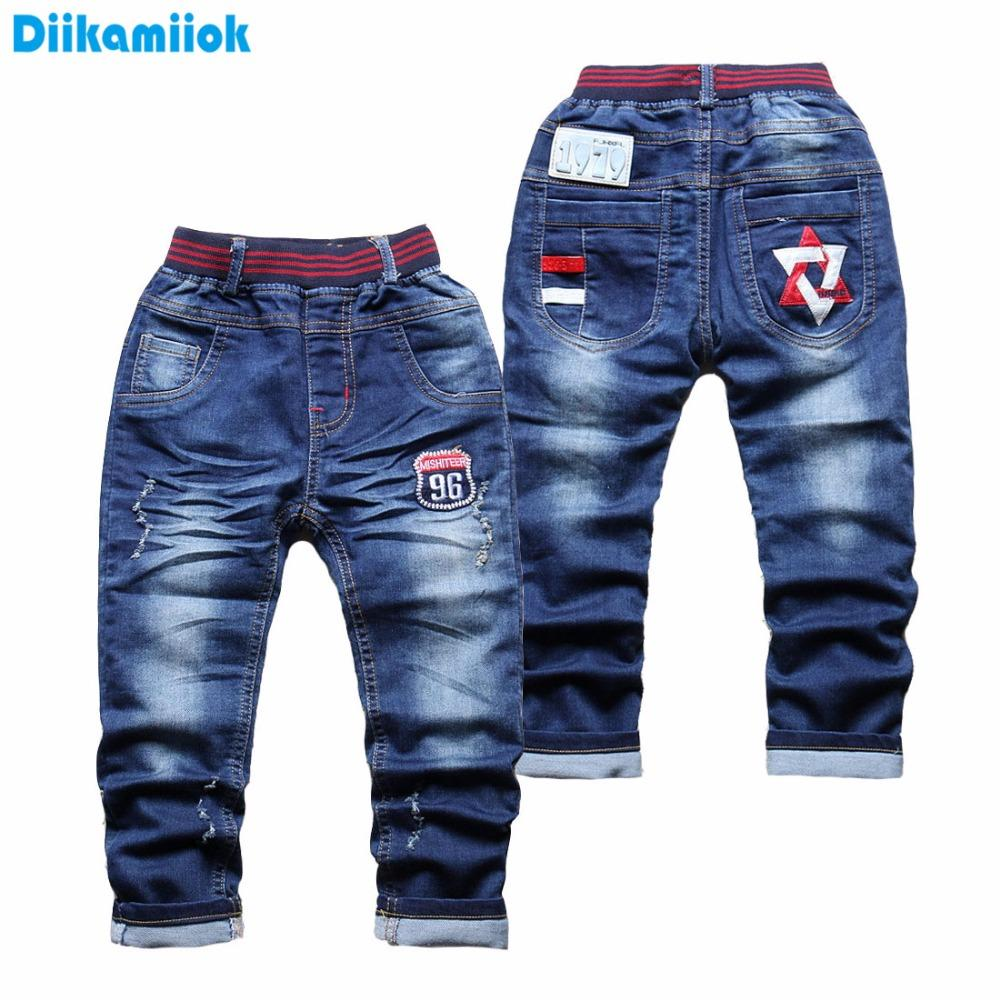 93f48685e Clearance Sale Spring Summer Boys Jeans Pants Kids Clothes Embroider Boy  Denim Pant Elastic Waist Trousers For Children 3 4 Year Miss Me Jeans Girls  Cheap ...