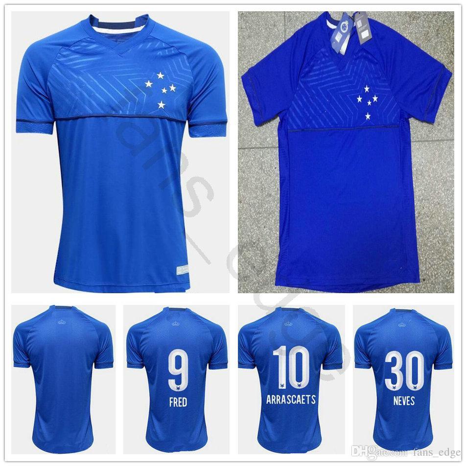 2019 2018 2019 Cruzeiro Soccer Jersey DE ARRASCAETA FRED ROBINHO LUCAS  THIAGO NEVES SASSÁR SÓBIS Customize Cruzeiro Home Blue Football Shirt From  ... 7595ad0b8db3b