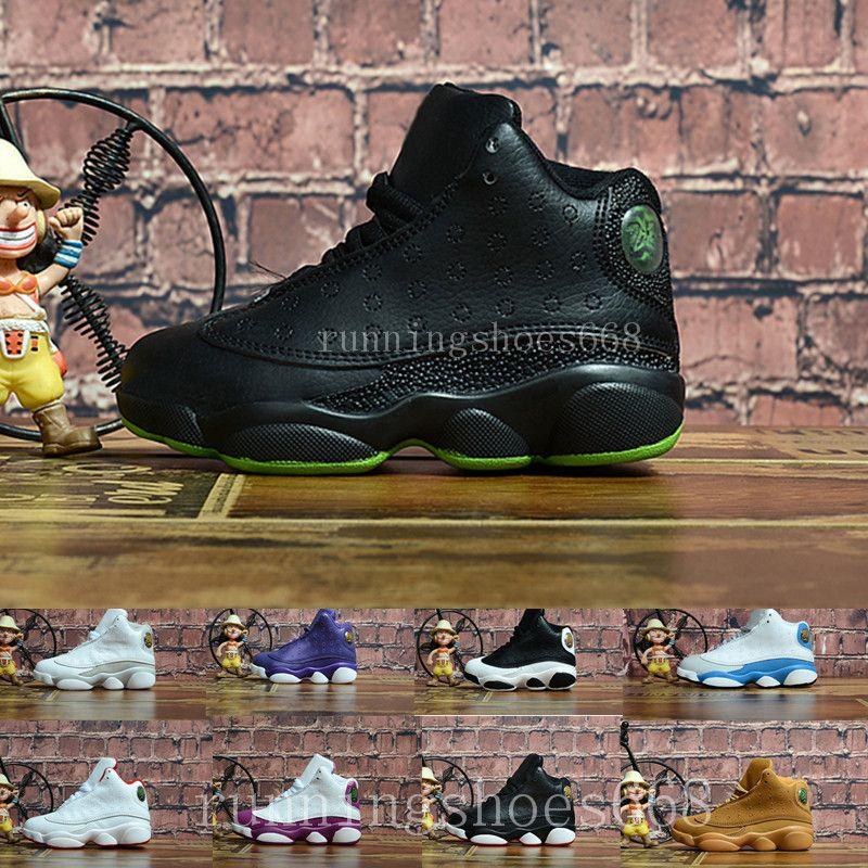 factory authentic b01a6 50692 Acheter Nike Air Jordan 13 Aj13 Retro 2018 Enfants 13 XIII Basketball  Chaussures Enfants 13s Sports Garçons Filles Jeunes Baby Baby Athletic  Sneakers Pas ...
