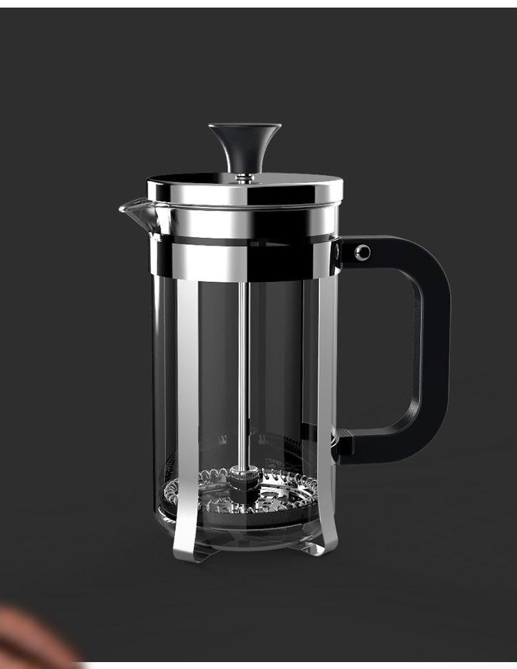350 ML 800 ML 1000 ML Edelstahl Cafetiere Französisch Presse Mit Filter glas Doppelwand kaffee / teekanne kaffee / tee maker freies verschiffen