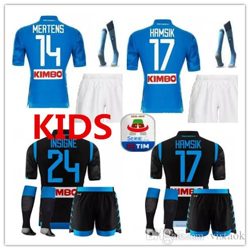 b2b124004 2019 Kids Kit 2018 2019 Naples Home Soccer Jersey ZIELINSKI HAMSIK INSIGNE  MERTENS CALLEJON PLAYER VERD JERSEY 18 19 Naples Men Kit Football Shir From  ...