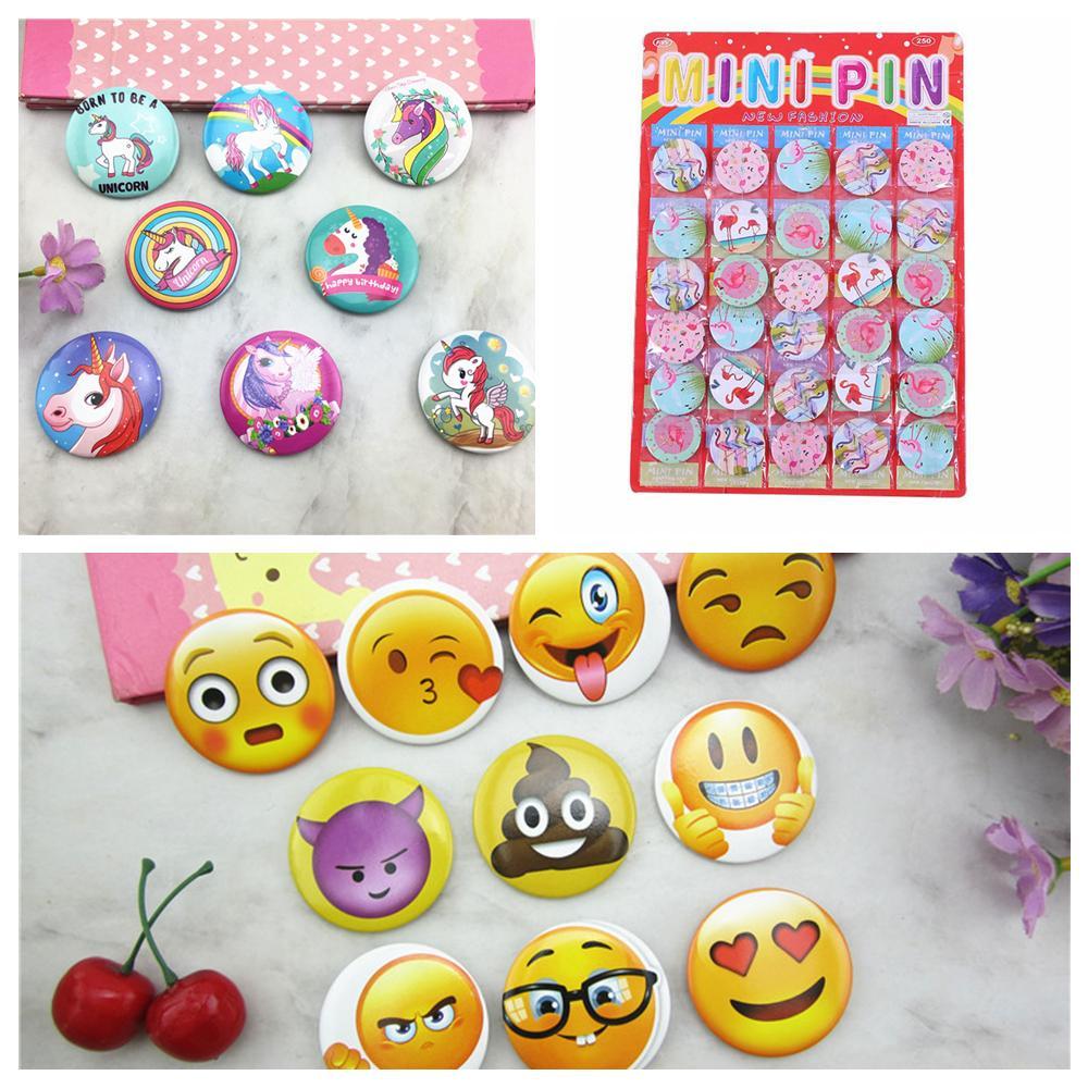 Flamingo Unicorn Emoji Cartoon Badge Brooch Gift Girls Boys Schoolbag Cloth Kids Birthday Party Decoration Novelty Item FFA640 Great Gag Gifts