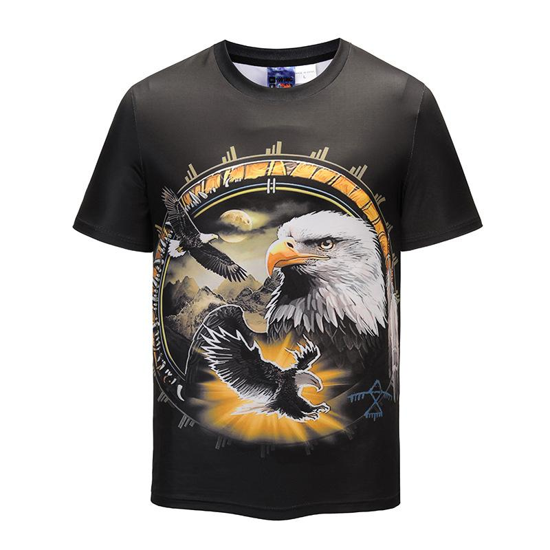Summer Eagle Pattern Printing T Shirt Street Dress Tide Brand Short Sleeved  Leisure Sports Clothes New Style Cool Shirts Online All Shirts From  Damon568 9f6632a95