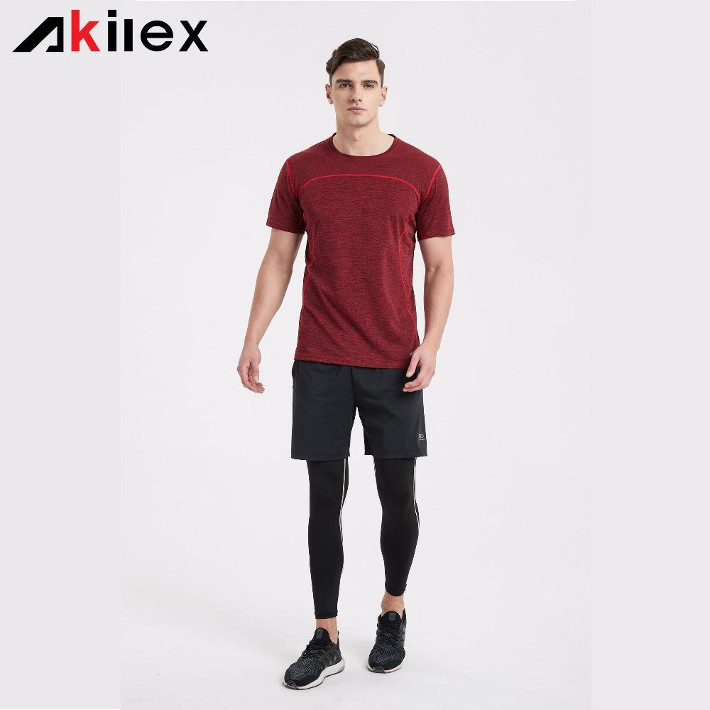 8b64235e4 Series New Style Akilex Gyms T Shirt Men's Workout Exercise Running Quick  Dry Bodybuilding Sports Men Tees Tops clothing