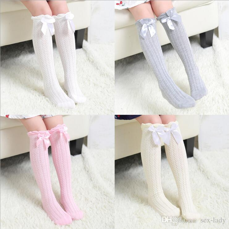 9104d7cdffb Kid Princess Socks For Kids Girl Bow Sox Korean Baby Girls Cotton Sock Knit  Knee High Socks Children Clothes Kids Clothing Unique Socks Winter Socks  From ...