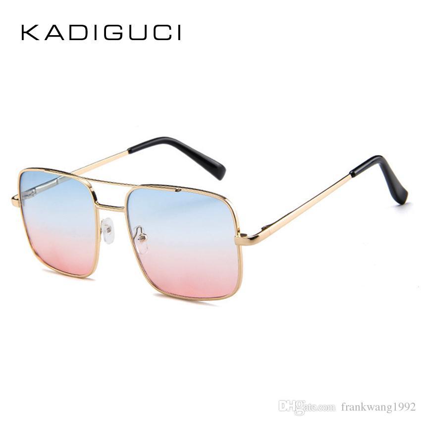 43146a2a3639 KADIGUCI Vintage Retro Oversized Square Sunglasses Women Men Fashion ...