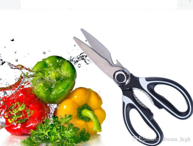 Stainless Steel Kitchen Scissors Multi-Purpose Kitchen Shears With Blade Cover Vegetable Slicer Smart Cutter kitchen Tools