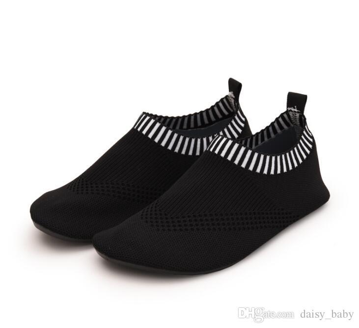 4b441b6eeefe1 Children Breathable Flying Fabric Shoes Indoor floor sock Lightweight  Anti-slip Sport Running Anti-slip For Yoga Kids Shoe Boy Girl Sneaker