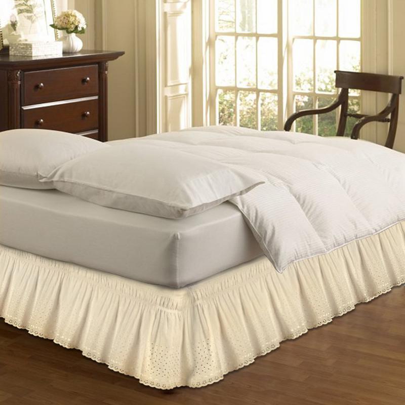 Großhandel 1,5 M Bett Rock Wrap Around Einfache Passform Baumwolle ...