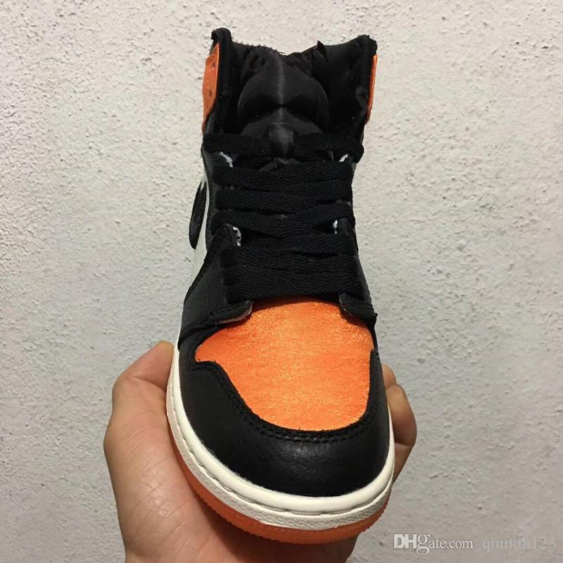 df252e1f5bb New 1 OG High Satin Shattered Backboard Men Basketball Shoes Trainers  Sports Orange Black Sneakers Outdoor TOP Quality Size 8 13 Sneakers Shoes  Shoes For ...