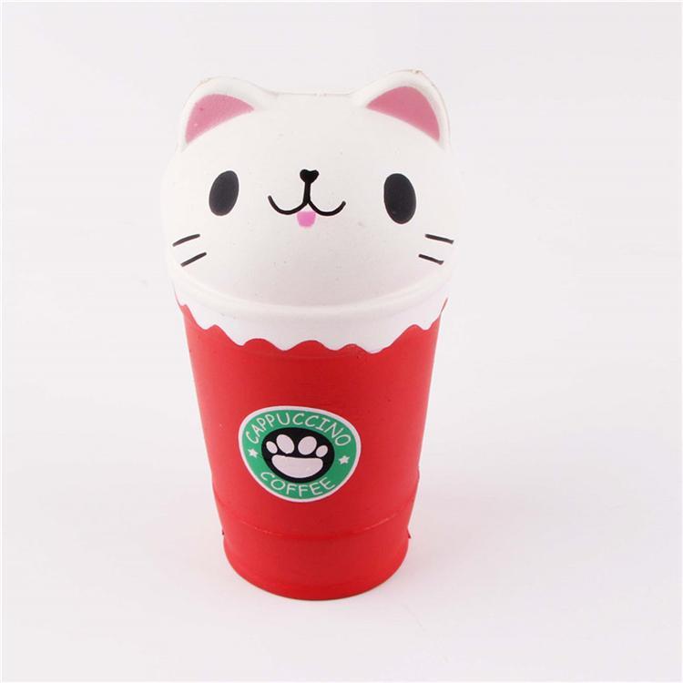 Cat mole Brinquedos Coffee Cup Squishies animal bonito lenta Nascente presentes Crianças Toy Descompressão Toy T2I313