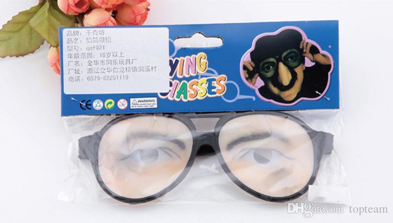 April Fools'Day Jouet créatif Décoration de fête Halloween Cosplay Toute personne Lunettes Props Funny Joke Glasses Tricky Toys