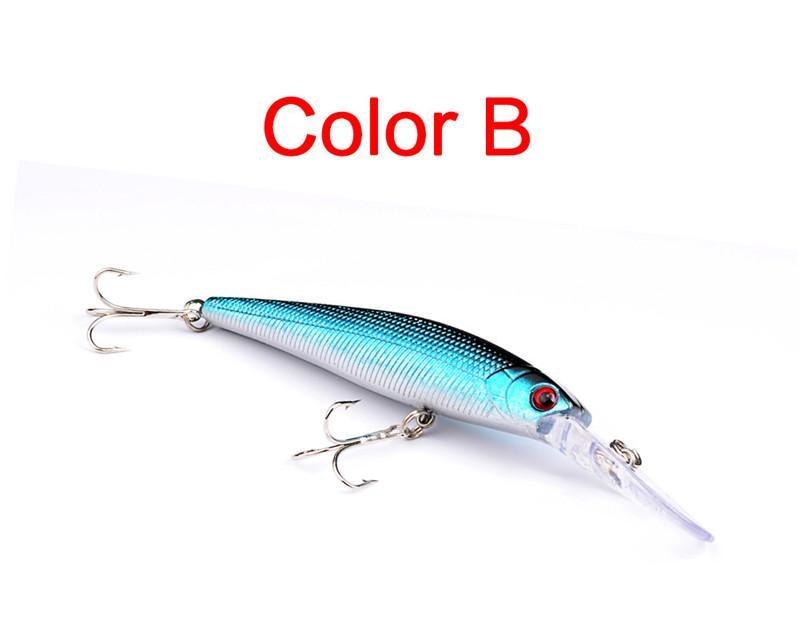 Многоцветный тонущий бас кривошипно приманки 14 г 12,5 см ABS пластик реалистичные гольян лазерный длинный язык рыболовную приманку