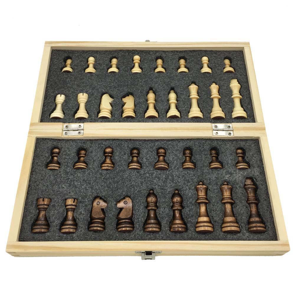 bcb870053e0 Wooden Chess Set Folding Chessboard With Magnetic Chess Board Size 29 Cm X  29 Cm Children Gift Tournament Game Best Price Board Games Family Board  Games All ...