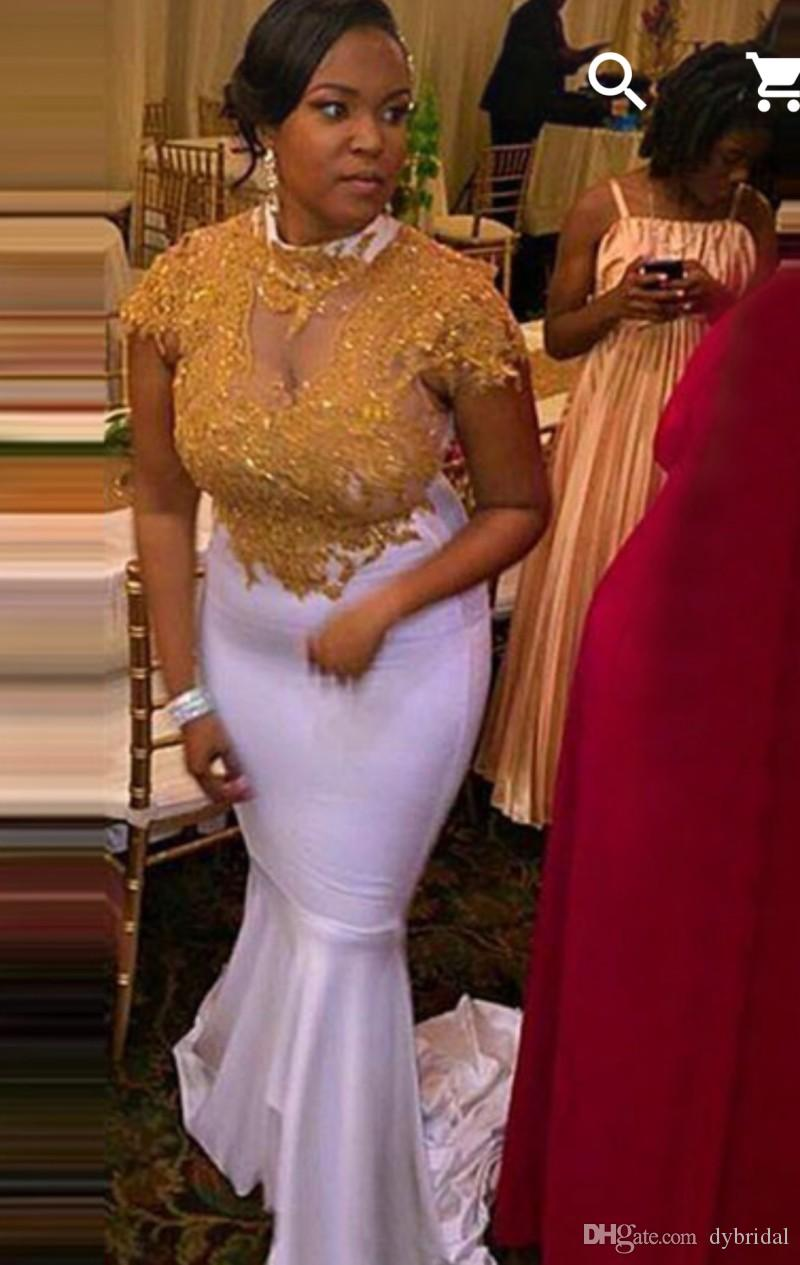 gold prom dresses mermaid 2018 sexy cheap formal dresses african dresses