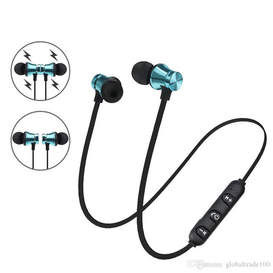 ea4056a8976 XT11 Bluetooth Earphones Magnet Sport Headphones With Mic Wireless Stereo  Earbuds For Apple IPhone Samsung LG Smartphones Headset Best Cell Phone  Earphones ...